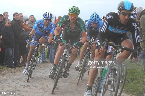 Paris-Roubaix 2012 Sebastien TURGOT / Matteo TOSATTO / Johan VANSUMMEREN / Compiegne - Roubaix / Parijs /c)Tim De Waele