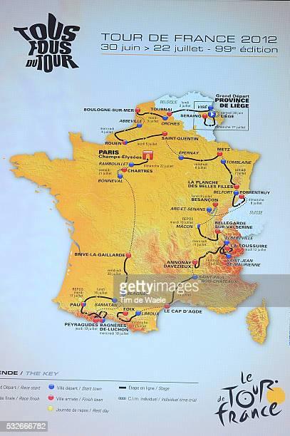 Presentation Tour de France 2012 Illustration Illustratie Map Traject Carte / Presentatie Ronde van Frankrijk / TDF /Tim De Waele