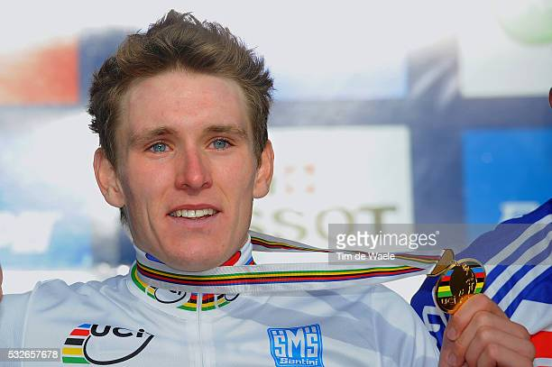 Road World Champ. 2011 / Men -23 Podium / Arnaud DEMARE Gold Medal / Celebration Joie Vreugde / Rudersdal - Rudersdal / Hommes Mannen U23 / UCI Road...