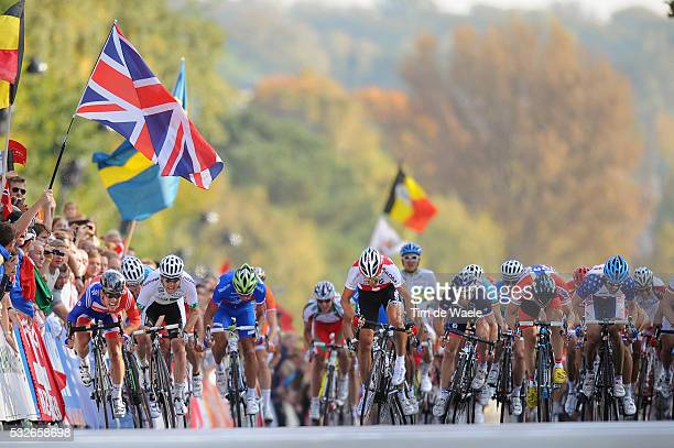 Road World Champ 2011 / Men Elite Arrival Sprint / Mark CAVENDISH / Matthew GOSS / Fabian CANCELLARA / Edvald BOASSON HAGEN / Jurgen ROELANDTS /...