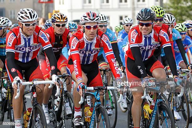 Road World Champ 2011 / Men Elite Kurt Asle ARVESEN / Thor HUSHOVD / Edvald BOASSON HAGEN / Rudersdal Rudersdal / Hommes Mannen / UCI Road World...