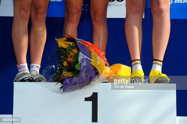 Road World Champ. 2011, Tt Junior Womenpodium, Illustration Illustratie, Elinor Barker Silver Medal, Jessica Allen Gold Medal, Mieke Kroger Bronze...