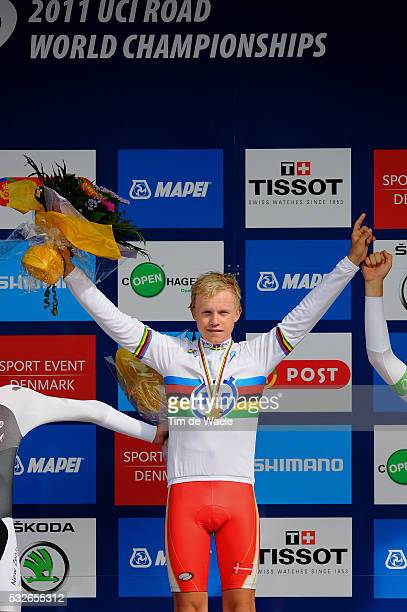 Road World Champ 2011 / TT Men Juniors Podium / Mads WURTZ SCHMIDT / Copenhagen Copenhagen / Time Trial Contre la Montre Tijdrit TT / Hommes Mannen /...