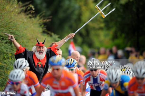 Road World Champ 2011 Women Elitedidi Senf Devil Diable Duivel Fans Supporters Illustration Illustratie Peleton Peloton Rudersdal Rudersdal / Femmes...