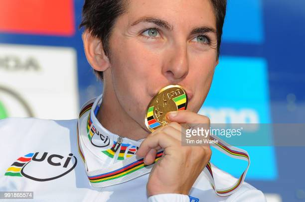 Road World Champ 2011 Women Elitepodium Giorgia Bronzini Gold Medal Celebration Joie Vreugde Rudersdal Rudersdal / Femmes Vrouwen Uci Road World...