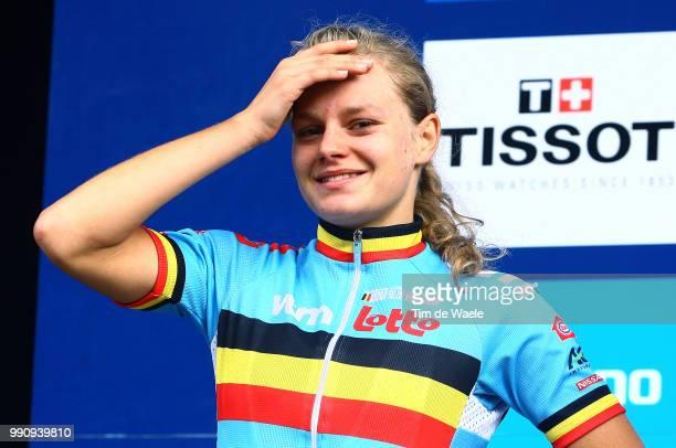 Road World Champ. 2011, Women Juniorpodium, Jessy Druyts Silver Medal, Celebration Joie Vreugde, Rudersdal - Rudersdal / Femmes Vrouwen Juniors, Uci...