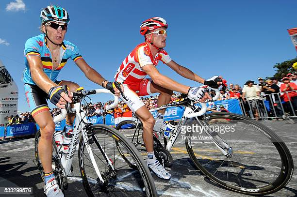 Road World Championships 2010 / Men Elite Jurgen ROELANDTS / Matti BRESCHEL / Melbourne - Geelong / Road Race Men Elite / Course en Ligne Hommes...