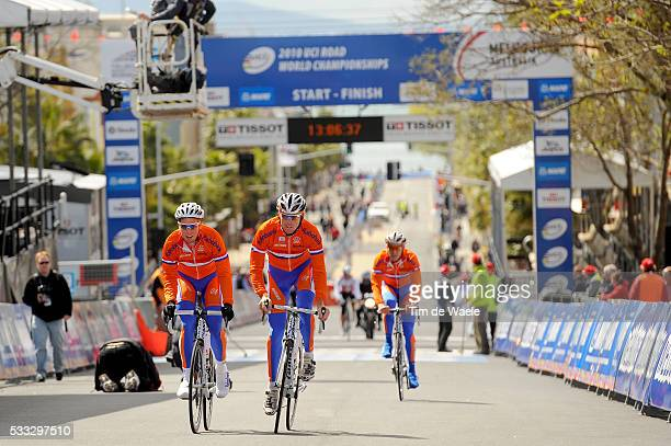 Road World Championships 2010 / Training Team Netherlands Holland / Koos MOERENHOUT / Sebastian LANGEVELD / Championat du Monde Route /...