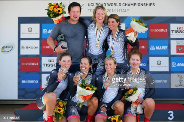 Road World Championships 2013, Ttt Women Elite Podium, Team Specialized - Lululemon / Elenora Van Dijk / Lisa Brennauer / Trixi Worrack / Evelyn...