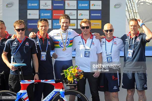 Road World Championships 2014 / TT Men Elite Podium / Bradley WIGGINS Gold Medal / Dave BRAILSFORD UK Team GB Manager / Ponferrada - Ponferrada /...