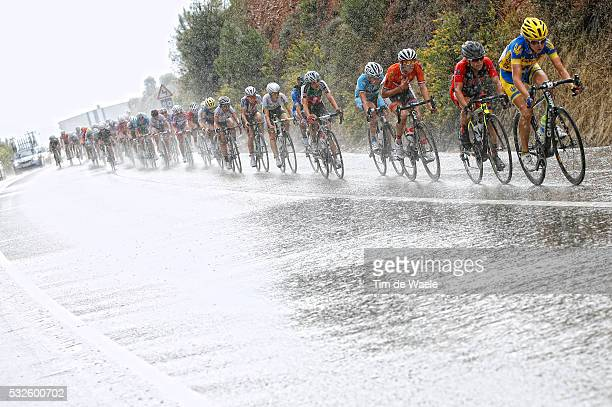 Road World Championships 2014 / Women Elite Illustration Illustratie Peleton Peloton Rain Pluie Regen / Ponferrada - Ponferrada / Femmes Vrouwen / WC...