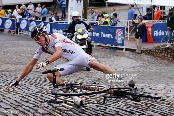 Road World Championships 2015 / Men Juniors Julian CARDONA / Crash Chute Val / Richmond - Richmond / Hommes Mannen / Championat du Monde Route /...