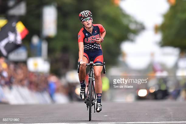 Road World Championships 2015 / Women Juniors Arrival/ DYGERT Chloe Celebration Joie Vreugde/ Richmond - Richmond / Women Juniors / Femmes Vrouwen /...