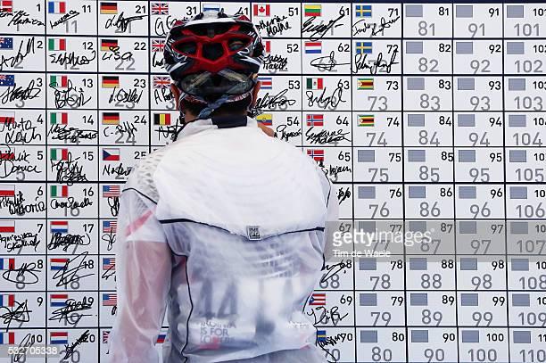 Road World Championships 2015 / Women Juniors Illustration Illustratie / Signature Signing Start Departure / Richmond - Richmond / Femmes Vrouwen /...