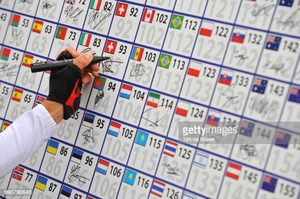 Road World Championships, Road Men -23Illustration Illustratie, Start Depart, Signature Handtekening, Championat Du Monde, Wereldkampioenschap,...