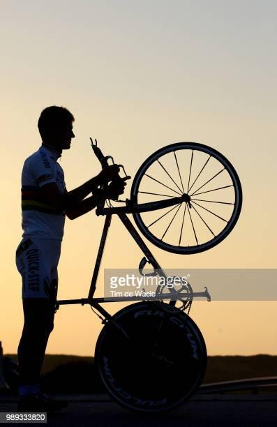 Stage Quick-Step Innergetic Rogers Michael , Illustration Illustratie Hombre Shadow Schaduw , Time Trial Bike, Velo Contre La Montre, Tijdrit...