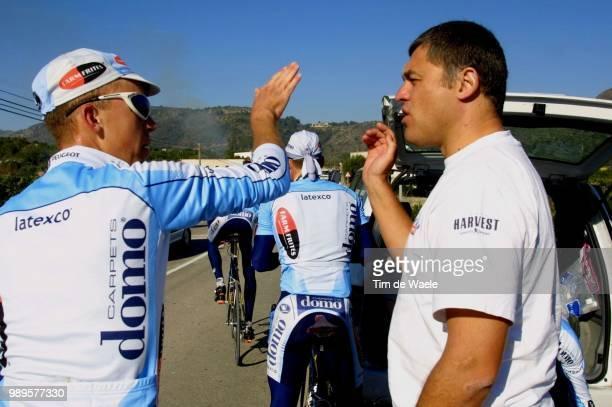 Stage Team DomoFarm Frites In Spain /Bruylandts Davy Redant Hendrik /