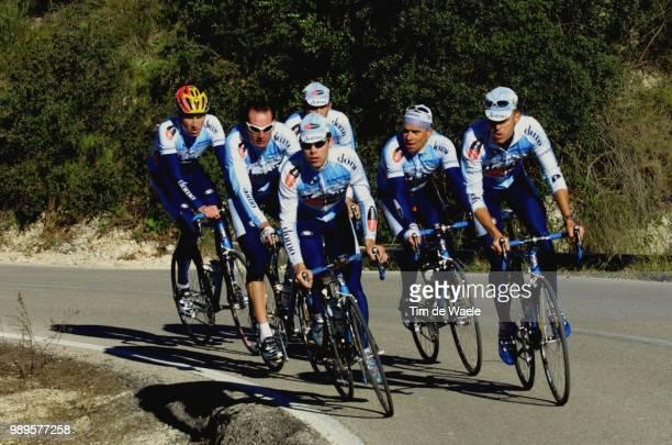 Stage Team DomoFarm Frites In Spain /Bruylandts Davy Vainsteins Romans Merckx Axel /