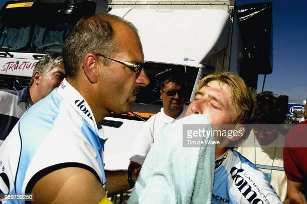 Tdf 2002, Stage 12, Nachtegaele Dirk, Soigneur, Verzorger, Merckx Axel, Tour De France, Ronde Van Frankrijk, Lannemezan - Plateau-De-Beille,