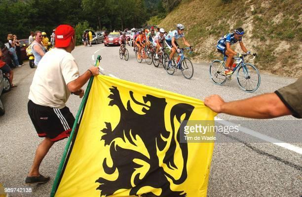 Tdf 2002, Stage 16, Illustration, Illustratie, Fans, Supporters, Drapeau, Vlg, Flag, Turpin Ludovic, Merckx Axel, Jalabert Laurent, Maillot Montagne,...