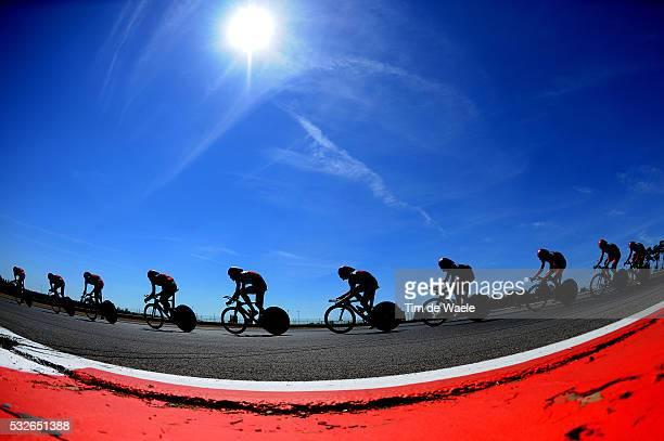 Team BMC 2011 / Team Time Trial Training Illustration Illustratie / Silhouet / Landscape Paysage Landschap / Contre la Montre par Equipe /...
