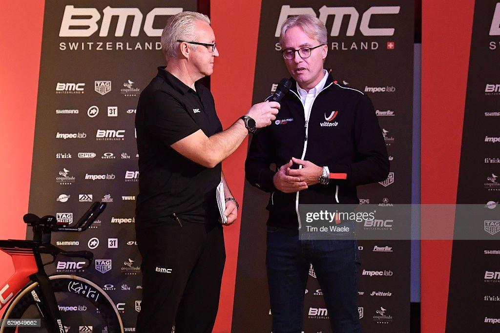 Team BMC Racing Team 2017 Georges LUCHINGER (SUI) Press Officer/ Rene TIMMERMANS (NED) CEO Vittoria/ Mediaday / Team BMC (Usa)/ ©Tim De Waele