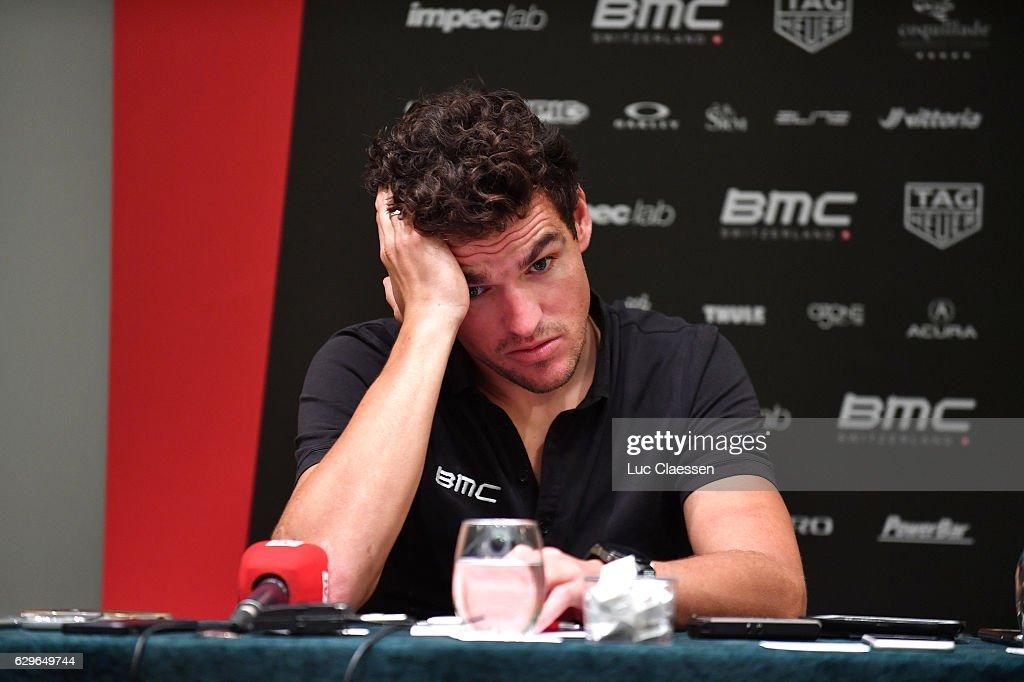 Team BMC Racing Team 2017 Greg VAN AVERMAET (BEL)/ Team Presentation / Press Conference / Mediaday / Team BMC (Usa)/ ©Tim De WaeleLC/Tim De Waele/Corbis via Getty Images)