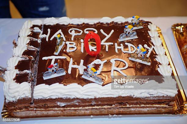 Team Garmin Cervelo 2011 Thor HUSHOVD Birthday Anniversaire Verjaardag / 18th January / Cake Gateau Taart / Training camp / Camp D'Entrainement /...