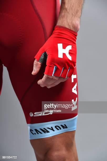 Team Katusha 2016 Illustration Illustratie Race Pants Pantalon Broek Gloves Kristoff Alexander / Equipe Ploeg /Tim De Waele