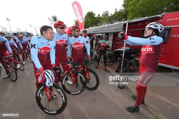 Team Katusha Alpecin 2018 Marcel KITTEL / Eduard R DORRENBERG Managing Partner Alpecin company / Sponsor Ride / Team Katusha Alpecin / ©Tim De Waele