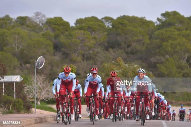 Team Katusha Alpecin 2018 Marcel KITTEL / Tony MARTIN / Eduard R DORRENBERG Managing Partner Alpecin company / Sponsor Ride / Team Katusha Alpecin /...