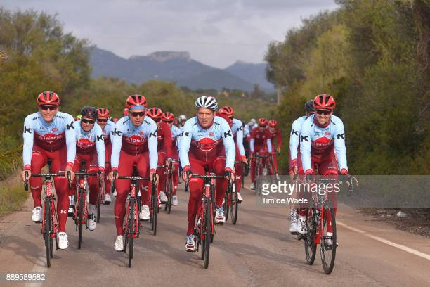 Team Katusha Alpecin 2018 Marcel KITTEL / Tony MARTIN / Eduard R DORRENBERG Managing Partner Alpecin company / Alexis SCHOEB CEO Team Katusha /...