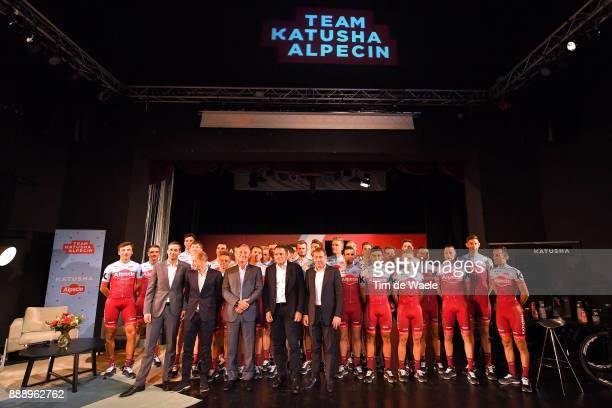 Team Katusha Alpecin 2018 / Team Presentation Igor MAKAROV Team Owner / Eduard R DORRENBERG Managing Parter Alpecin / Viacheslav EKIMOV / Alexis...