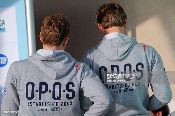 Team OPQS 2014 / Media Day Illustration Illustratie / Casual Clothing OPQS branding / Team Omega Pharma Quick-Step OPQS / Ploeg Equipe Pers Press Tim...