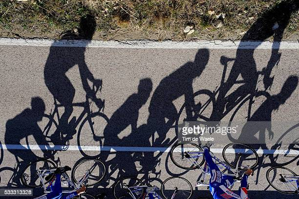 Team QuickStep 2011 Training camp Illustration Illustratie / Peleton Peloton / Shadow Hombre Schaduw / Camp D'Entrainement / Kamp Stage / Equipe...