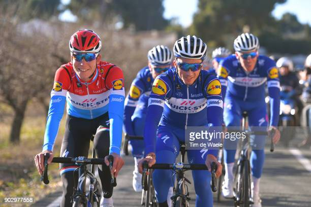Team QuickStep Floors 2018 / Media Day Bob Jungels / Julian Alaphilippe / Team QuickStep Floors / Media Day /
