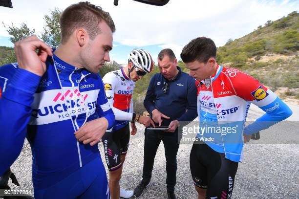 Team QuickStep Floors 2018 / Media Day Bob Jungels / Zdenek Stybar / Maximilian Schachmann / Wilfried Peeters Sportsdirector / Team QuickStep Floors...