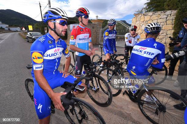 Team QuickStep Floors 2018 / Media Day Fernando Gaviria / Bob Jungels / Philippe Gilbert / Zdenek Stybar / Team QuickStep Floors / Media Day /