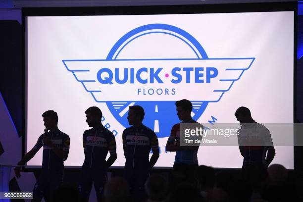 Team QuickStep Floors 2018 / Media Day Julian Alaphilippe / Fernando Gaviria / Philippe Gilbert / Bob Jungels / Zdenek Stybar / Silhouet / Team...