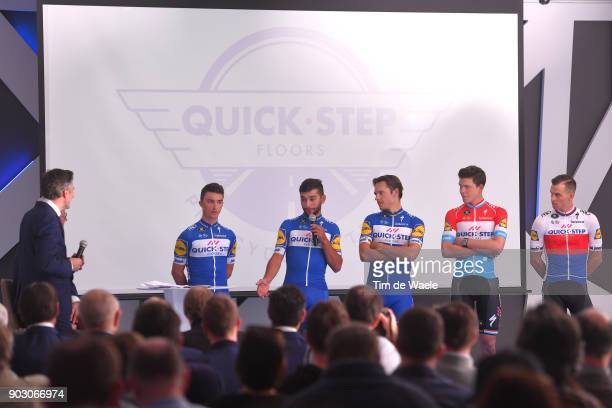 Team QuickStep Floors 2018 / Media Day Julian Alaphilippe / Fernando Gaviria / Philippe Gilbert / Bob Jungels / Zdenek Stybar / Team QuickStep Floors...