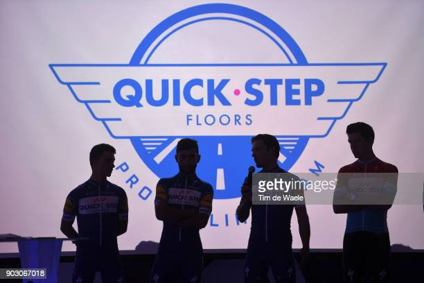 Team QuickStep Floors 2018 / Media Day Julian Alaphilippe / Fernando Gaviria / Philippe Gilbert / Bob Jungels / Silhouet / Team QuickStep Floors /...