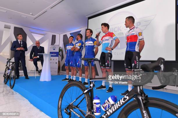 Team QuickStep Floors 2018 / Media Day Patrick Lefevere CEO Manager / Julian Alaphilippe / Fernando Gaviria / Philippe Gilbert / Bob Jungels / Zdenek...