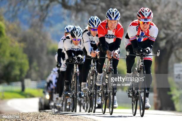 Team Saxo Bank California Training CampkurtAsle Arvesen Nicki Sorensen /Equipe Ploeg Tim De Waele