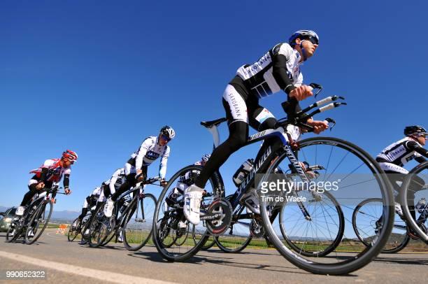 Team Saxo Bank California Training Campmatti Breschel Jurgen Van Goolen Equipe Ploeg Tim De Waele