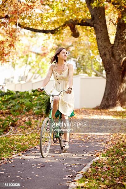 Radtour durch den park