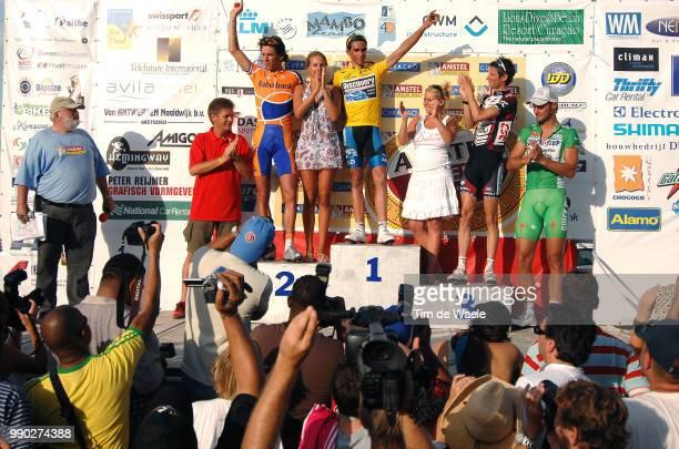 Tom Boonen Sofie Curacao Hollidayspodium Leo Van Vliet Organiser Race Director Thomas Dekker Sofie Van Vliet Daughter Fille Dochter Roberto Contador...