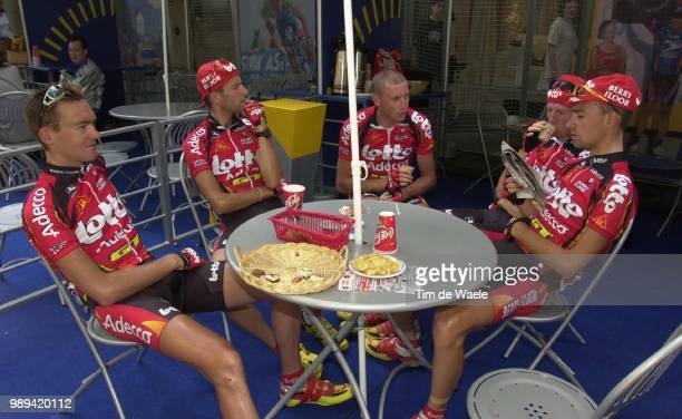 Cycling Tour De France 2000Aerts Mario Vandewouwer Kurt Marichalthierry Demarbaix Sebastien Cyclismewielrennen Cycling Tdf Iso Sport Tourde France...