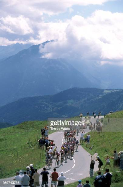 Tour De France 2002 /Illustration, Illustratie, Peloton, Paysage, Landscape, Landschap, Montagne, Mountain, Berg /Tdf, Ronde Van Frankrijk,