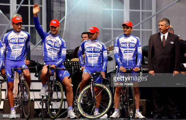Tour De France 2004 Bramati Davide Boonen Tom Bettini Paolo Virenque Richard Parsani Serge Sportsdirectorteam Presentation Presentation D'Equipe...