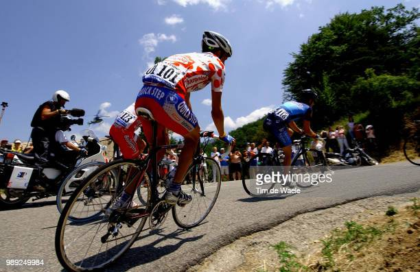 Tour De France 2004 Cycling Tour De France 2004 Virenque Richard Maillot Montagne A Pois Mountain Jersey Bergtrui Bolletjestruistage Etape Rit 15...